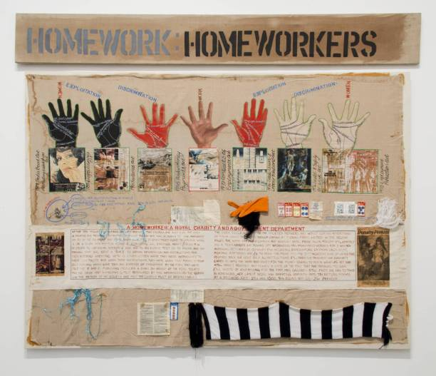 Homeworkers 1977 by Margaret Harrison born 1940