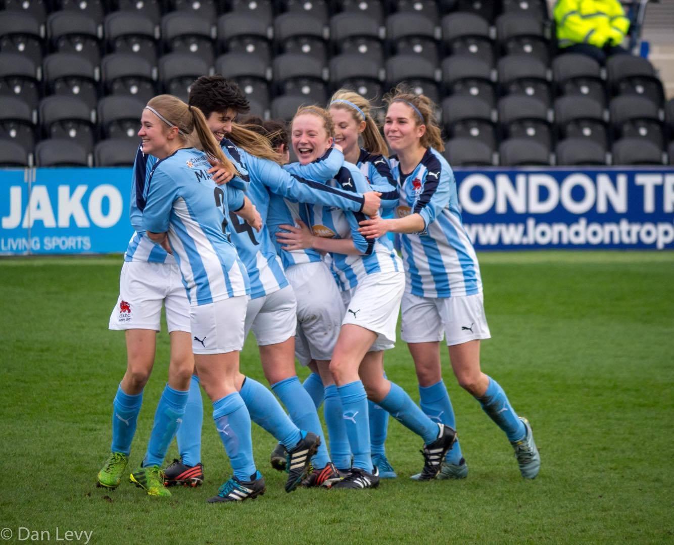 A goal at Women's Football Varsity