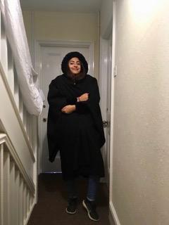 Coat under gown